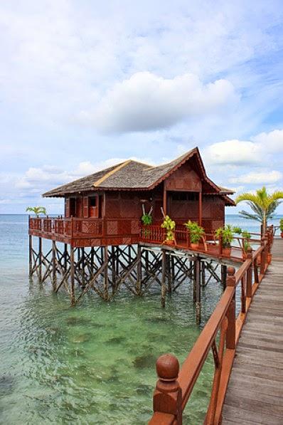 Wasservilla auf Pulau Sipadan Malaysia