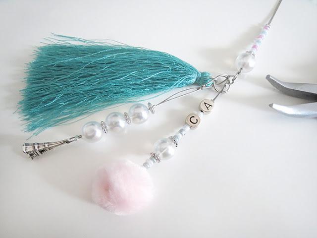 Tassel mit Pompom, Quaste und Perlen basteln
