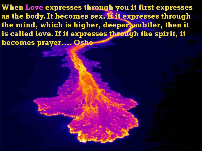 Know The Expression Of Love Osho Quote On Love And Sex Osho