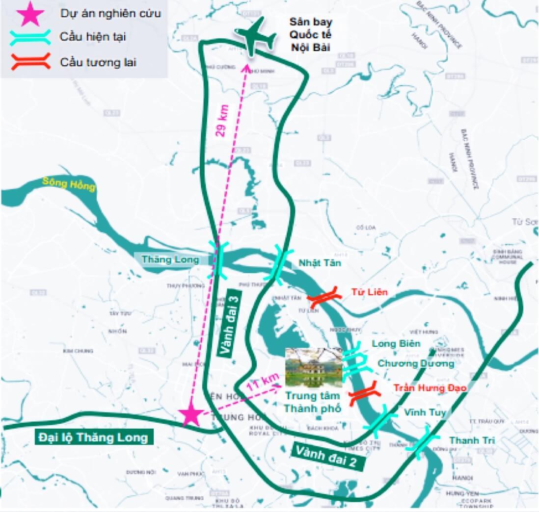 Bản đồ kết nối dự án The Matrix One Lê Quang Đạo