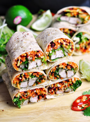 Banh Mi Wrap  Under 500 Calories #healthywraps