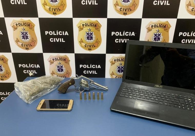 Operação em Conquista prende dois e apreende arma e droga