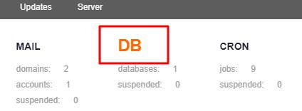 Create Database On VestaCP