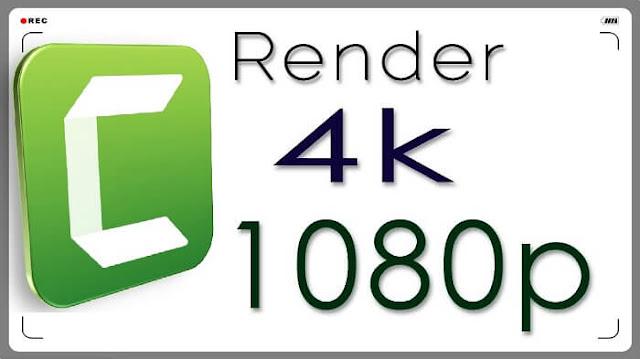 Camtasia إخراج وتصدير الفيديو بجودة 720 و 1080 و 4K