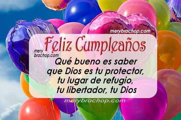 mensaje cristiano para hija en cumpleaños imagen con globos colores