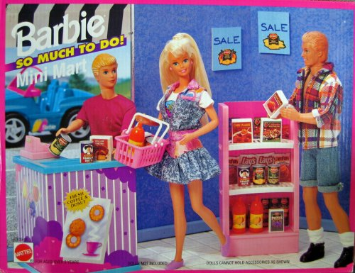 Barbie Mini Mart Playsets Let S Go Snack Shopping Snaxtime