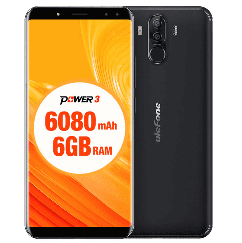 Ulefone Power 3 has 6-inch FHD+ 18:9 screen, quad cameras, and  6,080mAh battery!