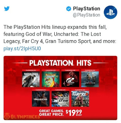Revealing of new games coming into PlayStation Hits shows
