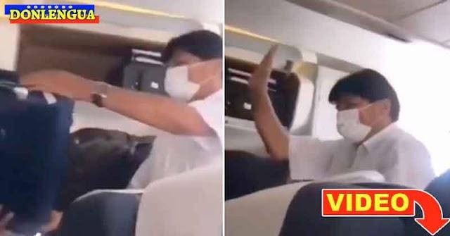 Escracharon al energúmeno de Evo Morales y lo hicieron bajar de un avión