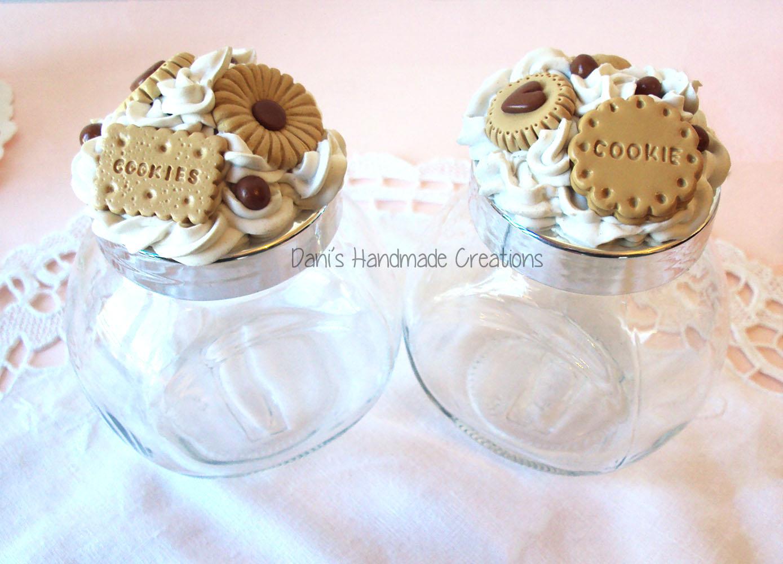 Dani 39 s handmade creations coppia di barattoli porta - Barattoli vetro decorati ...