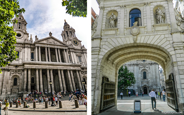 Entrada principal da Catedral de Saint Paul, Londres