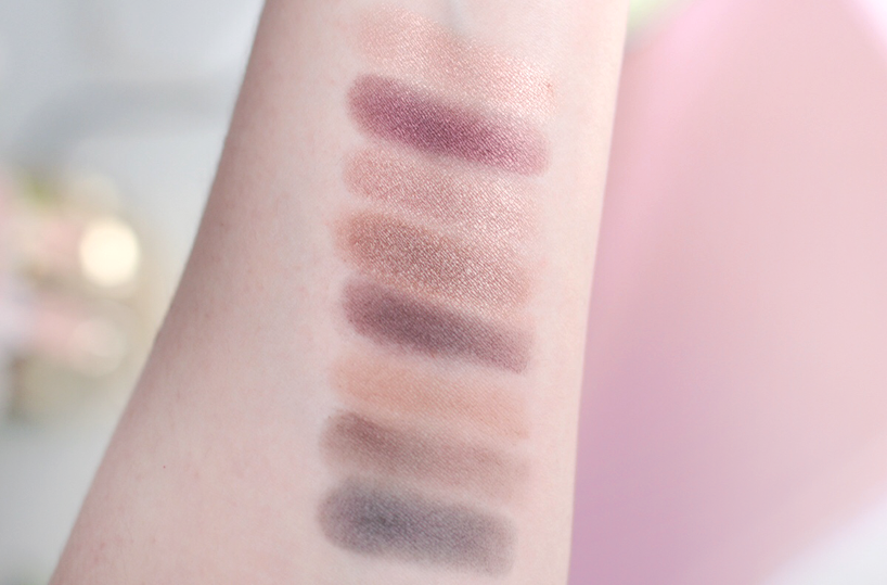 Pixi Beauty eyeshadow palette review swatches