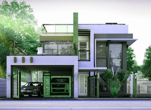 rumah mewah minimalis modern 2 lantai