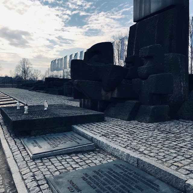 The memorial at the end of the tracks at Birkenau : My Visit To Auschwitz (and why you should visit too)