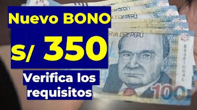 Nuevo Bono de 350 soles Premier Bellido hace oficial la entrega del subsidio