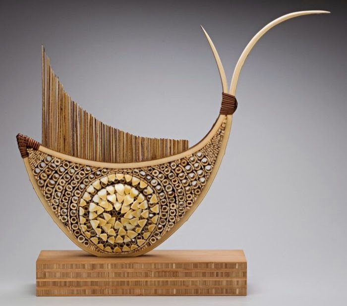 Contemporary Woven Bamboo Crafts Art Craft Gift Ideas