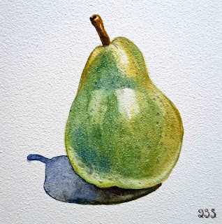painting of a pear
