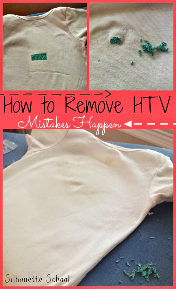 Heat Transfer Vinyl, HTV, remove, mistakes