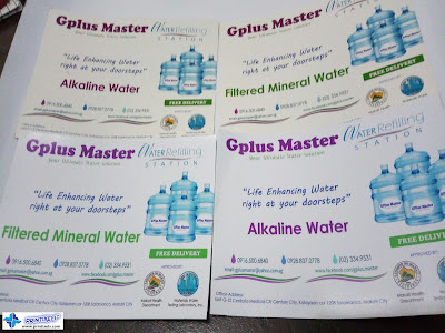 Gplus Master - Sticker Labels for Water Containers