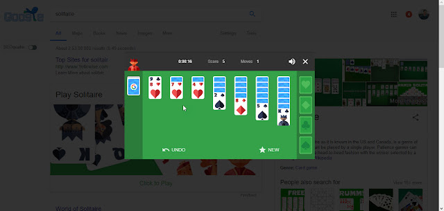 Solitaire Google Tricks