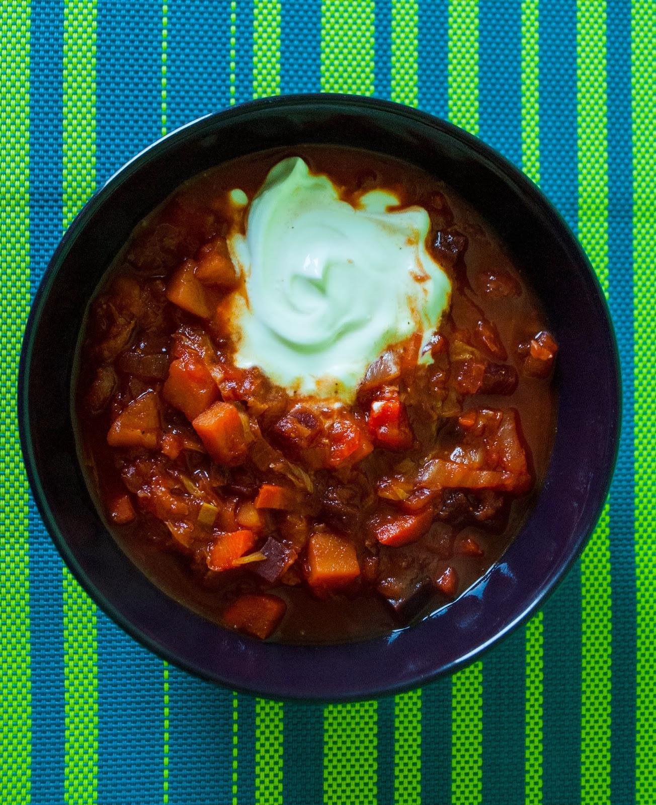 warzywa duszone z curry