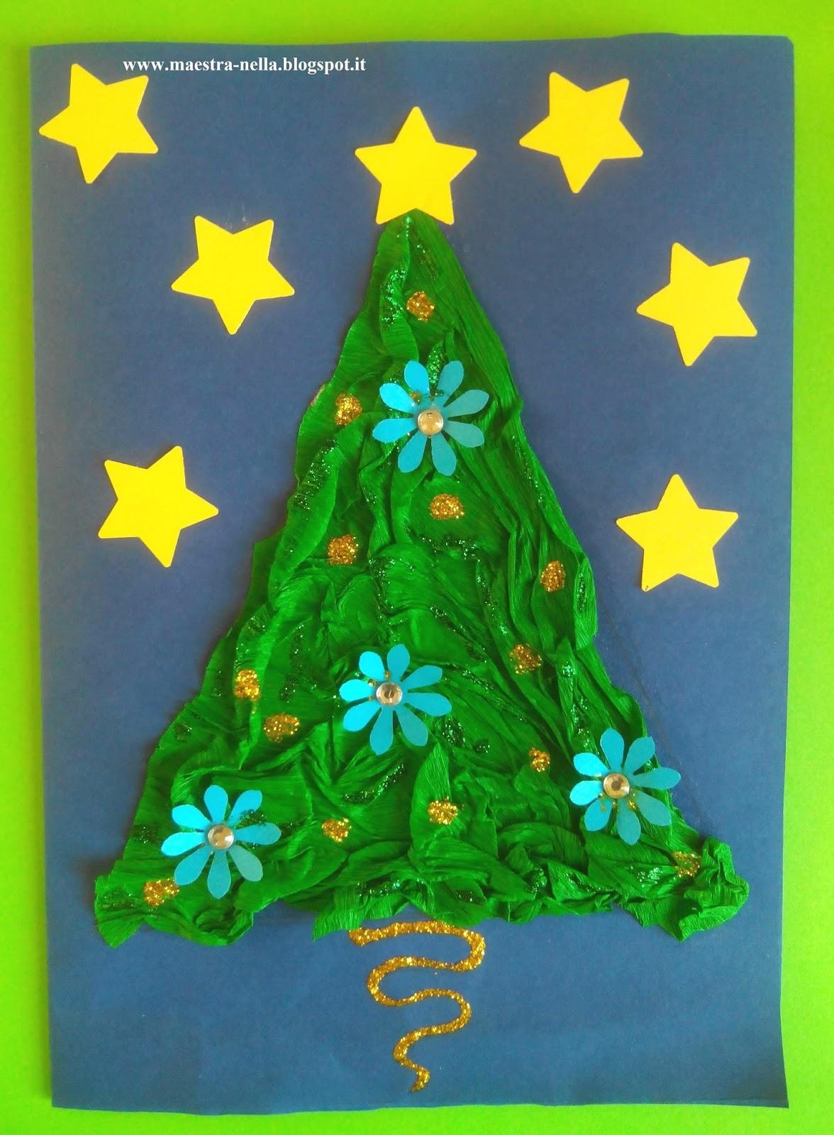 Maestra nella biglietti natalizi 2 for Lavoretti di natale maestra mary