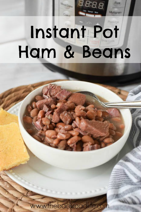 Instant Pot Ham and Beans Pin