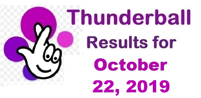 Thunderball Results for Tuesday, October 22, 2019