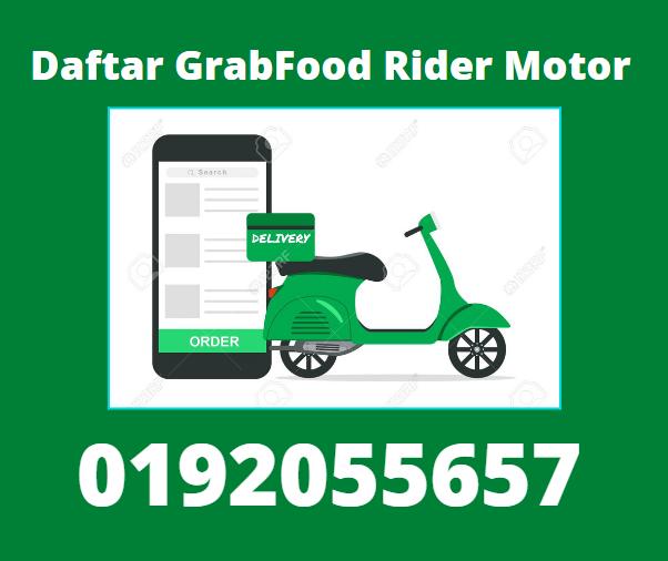 daftar grab food rider