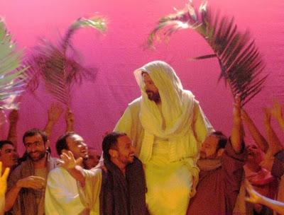 Representación de Jesús en Domingo de Ramos