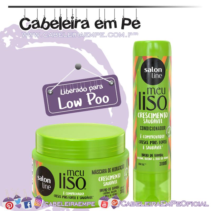 Condicionador e Máscara Meu Liso Crescimento Saudável - Salon Line (Low Poo)