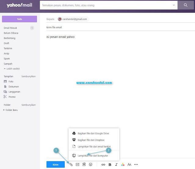 Cara Mengirim File Lewat Email Yahoo