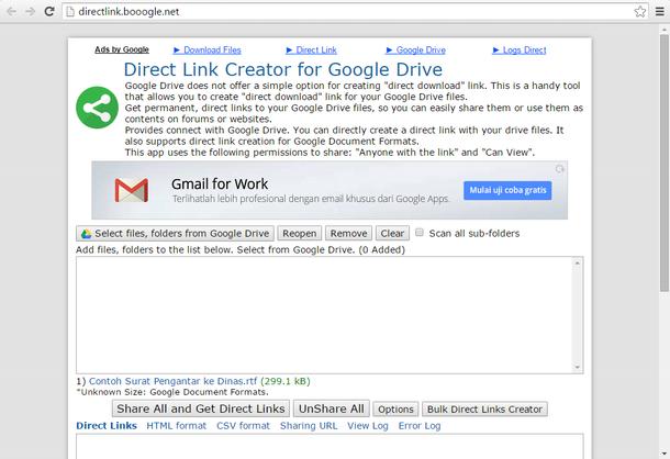 Direct Link Creator - Booogle Net