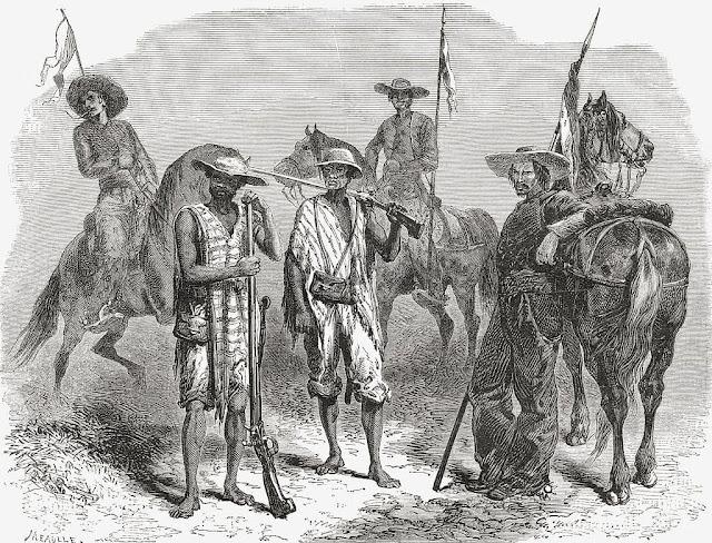 Soldados colombianos en el siglo XIX