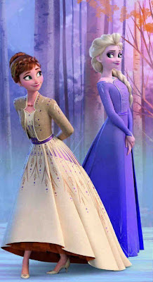 Elsa dan Ana dalam balutan gaun cantik