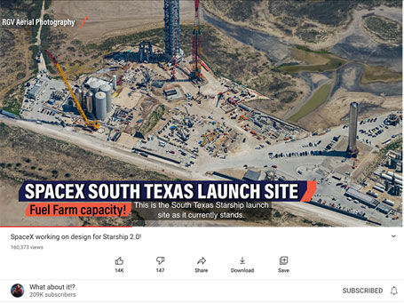 SpaceX South Texas Launch Site (Source: @Whataboutit)