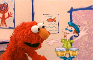 How many times does this bongo player's hands hit the bongo drums. Sesame Street Elmo's World Hands Elmo's Question