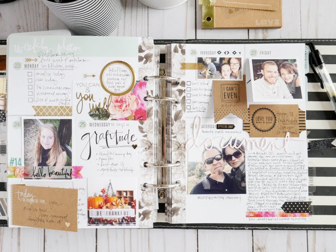 Take a Look Inside October Memory Planner by Jamie Pate | @jamiepate