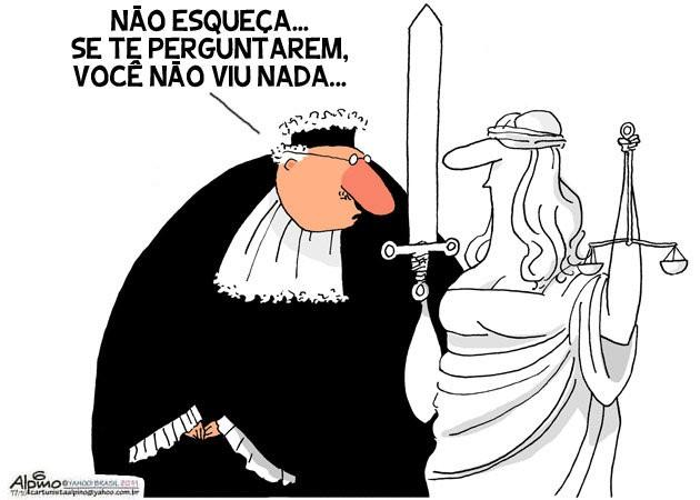 Resultado de imagem para DITADURA DA JUSTIÇA CHARGES