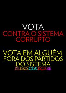 abstenção causa corrupção, socialista, TAP corrupção, voto nulo e branco