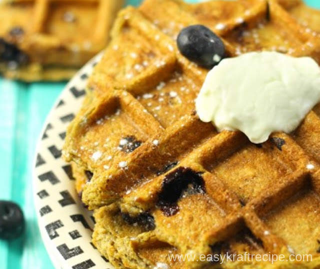 SWEET POTATO BLUEBERRY WAFFLES