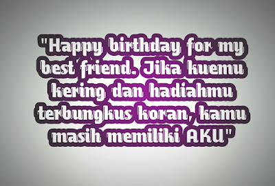 birthday wishes for best friend bahasa indonesia