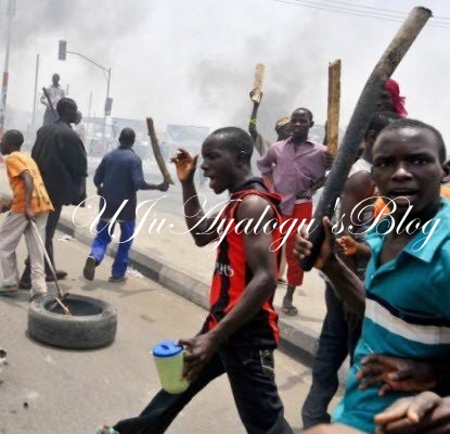 Hundreds of Angry Youths Invade Delta Catholic School, Hold Rev. Father Principal Hostage...Find Out Why