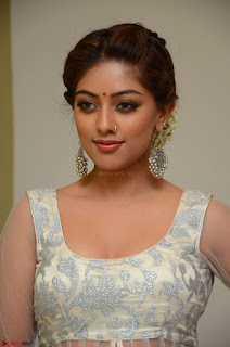 Anu Emmanuel in a Transparent White Choli Cream Ghagra Stunning Pics 118.JPG
