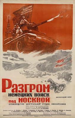 Póster original Documental Moscú contraataca
