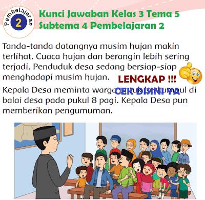 Kunci Jawaban Tematik Kelas 3 Tema 5 Subtema 4 Pembelajaran 2 www.simplenews.me