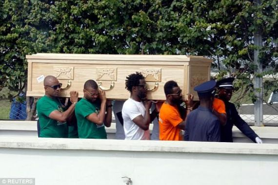 Photos: Footballer Cheick Tiote's remains arrive in Ivory Coast for burial