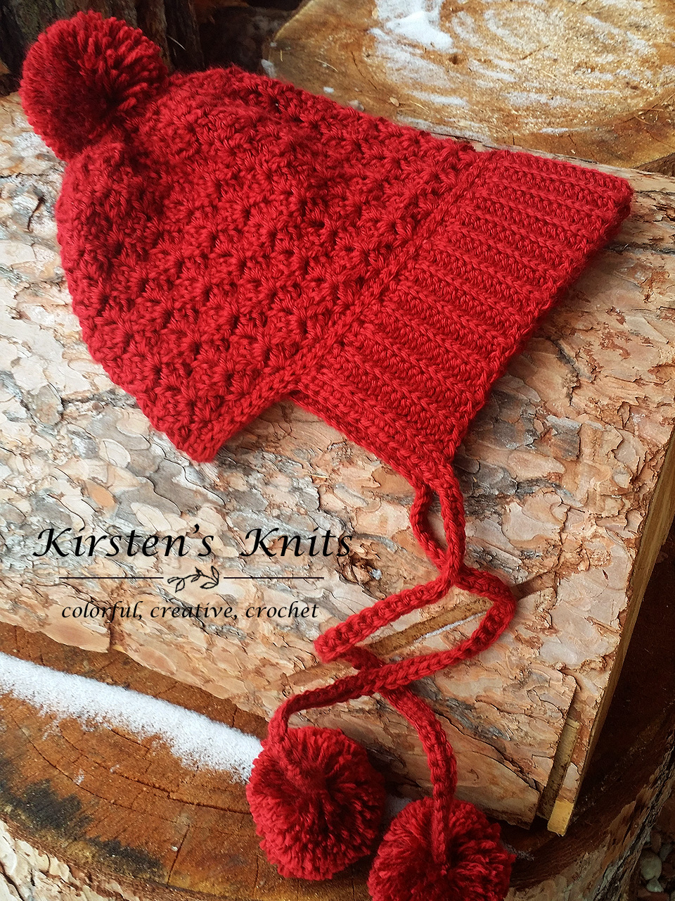 Pattern Cranberry Twist Slouchy Bonnet Kirsten Holloway Designs