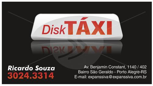 cartao de visita taxistas preto - Cartão de visita criativo para taxistas