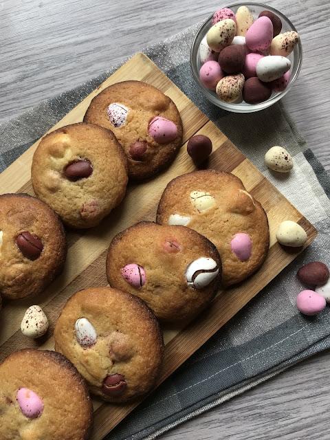 cookies con huevos de chocolate de pascua receta